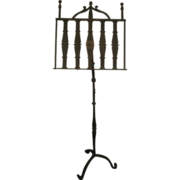 19th Century Hand  Forged Metal Music Stand