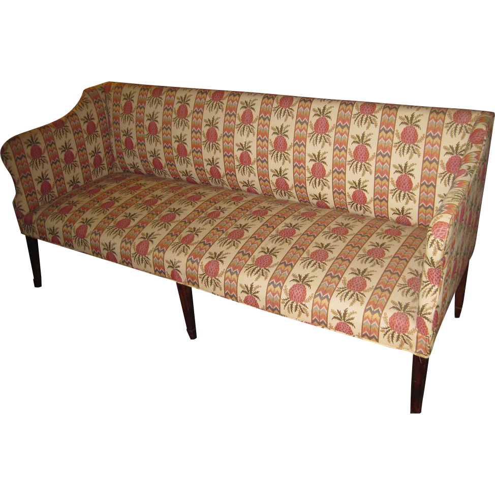 Hepplewhite Sofa With Scalamandre Fabric From Savannahgalleries On Ruby Lane