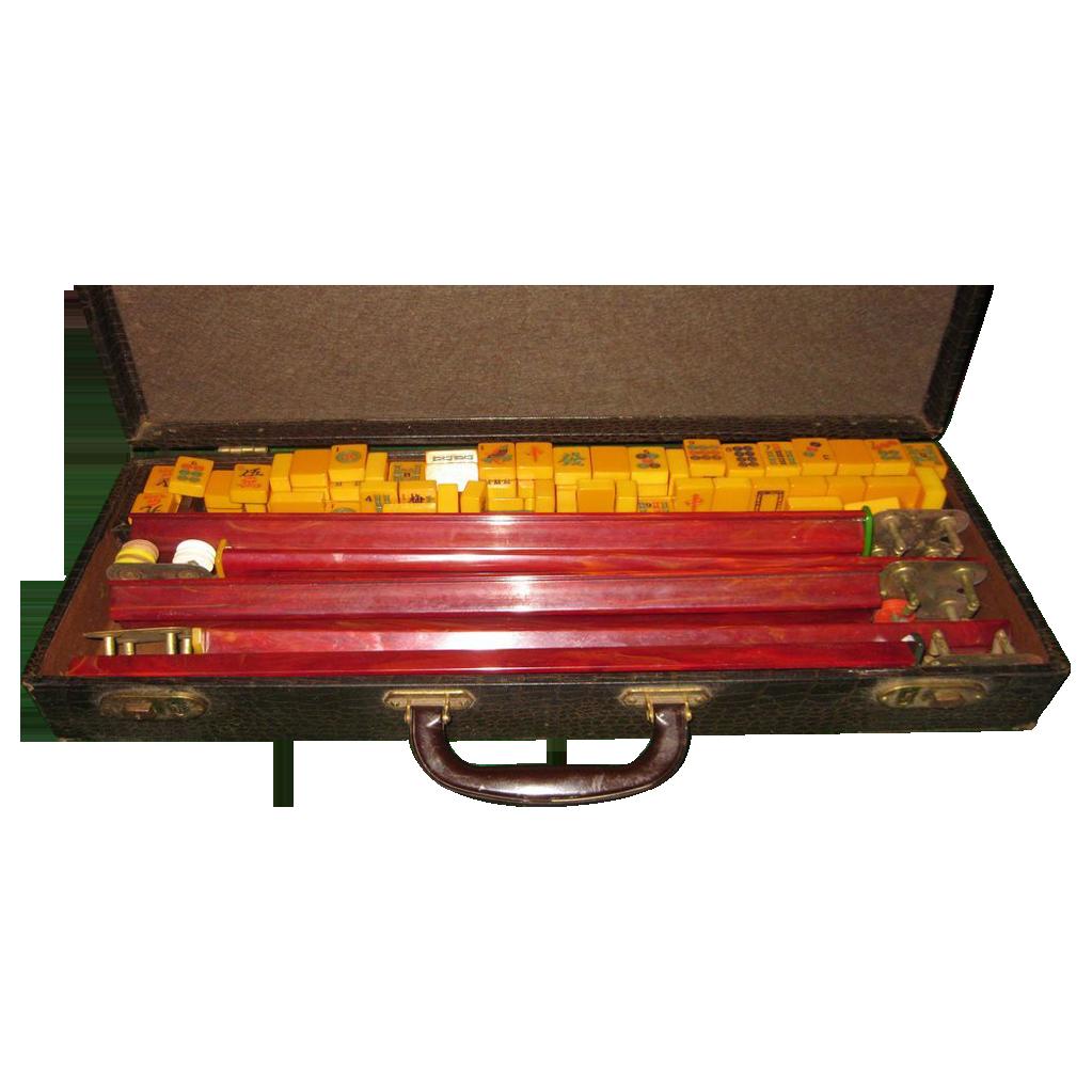 Vintage Mah Jongg Set 100
