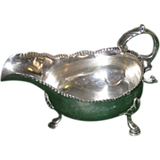 18th. c. English Sterling Silver Gravy Boat