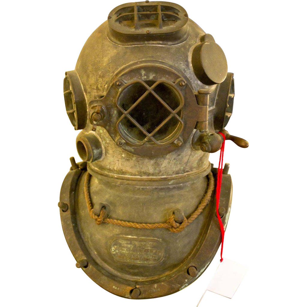 Antique Diving Helmet Mark V Original 1918 Us Navy From Savannahgalleries On Ruby Lane