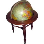 20th c. World Globe on Pedestal