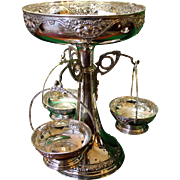 20th c. Silver Plate Epergne by Pedro Bignoli