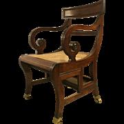19th c. Regency Mahogany Metamorphic Library Chair
