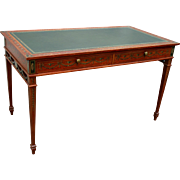 19th c. English Adam Style Satinwood Desk