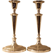 Sterling Silver Candlesticks Classical Design