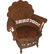 19th c. Victorian Wicker Armchair