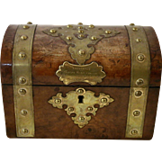 19th Century English Walnut Tea Caddy