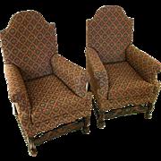 19th Century Jacobean Revival Armchairs