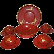 Japanese Meiji Period Lacquerware Set