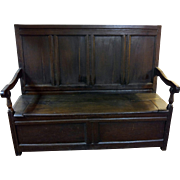 18th Century Jacobean English Oak Bench