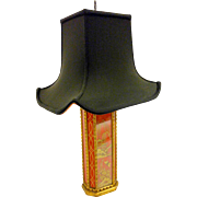 Art Deco Asian Style Lamp with Pagota Shade