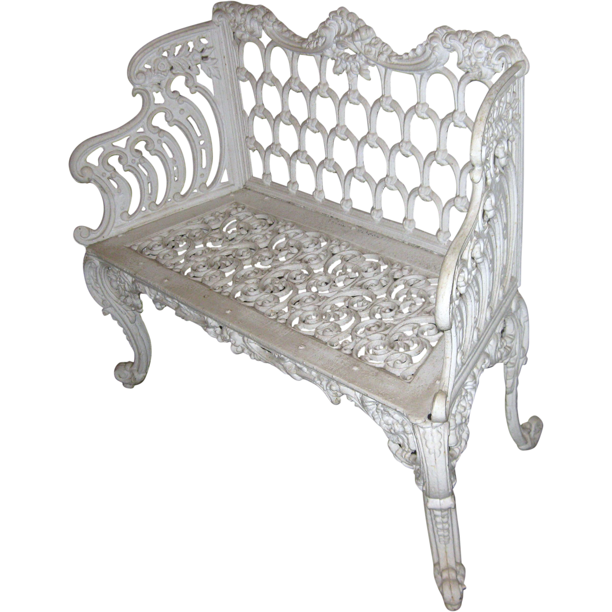 19th Century Cast Iron Garden Bench From Savannahgalleries On Ruby Lane