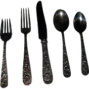 Repousse 40 Piece Set Sterling Silver Flatware by Kirk