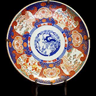19th Century Edo Period Japanese Imari Charger