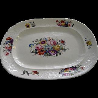 19th Century English Ironstone Botanical Platter