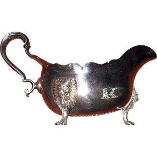 18th Century Irish Sterling Silver Sauce Boat