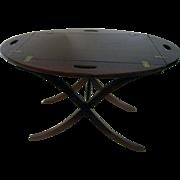 19th Century English Mahogany Butler's Tray Table