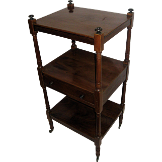19th Century Regency Mahogany Etagere