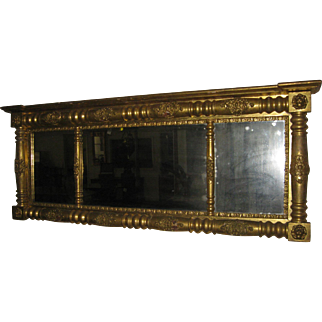 19th Century Giltwood Regency Overmantle Mirror