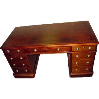 19th Century English Mahogany Desk