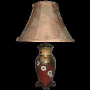 19th Century Satsuma Porcelain Vase Table Lamp