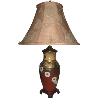 19th Century Satsuma Porcelain Vase Table Lamp
