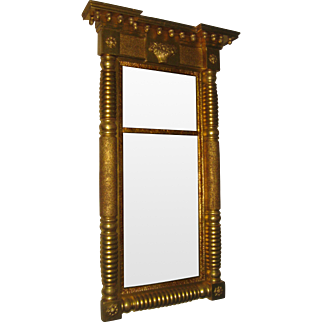 19th Century Giltwood American Federal Mirror