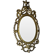 19th Century George III Carved Giltwood Mirror