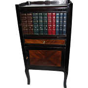 Louis XV Style Fruitwood End Table with Faux Books