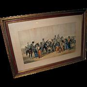 Lithograph Crimean War Scene Print by R. de Moraine