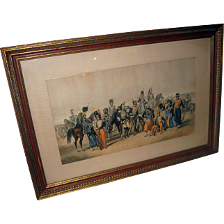 Lithograph Crimean War Scene Print by R. de Moraine
