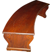 19th Century Regency Period Curved Walnut Bench