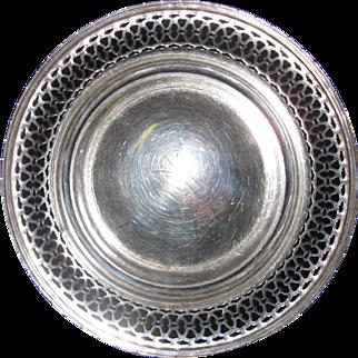 Sterling Silver Gorham Reticulated Bonbon Dish