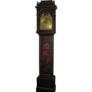 18th Century Japanned Long Case Clock