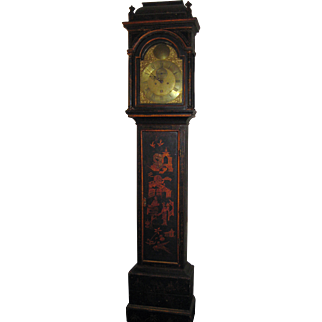 18th Century Japanned Long Case Clock