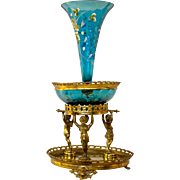 Victorian  Epergne with Bohemian Glass Inserts