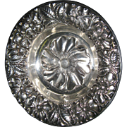 Art Nouveau Sterling Silver Poppy Dish