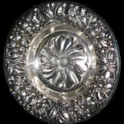 Art Nouveau Sterling Silver Poppy Dish