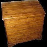 19th Century Primitive Pine Slant-top Feed Bin
