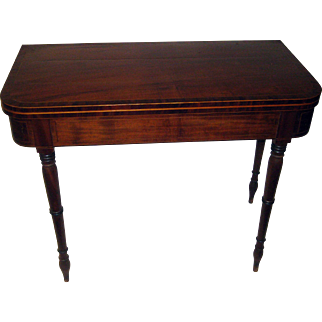 19th Century American Sheraton Style Game Table