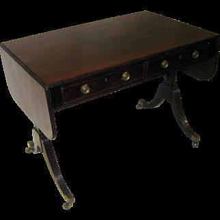 19th Century Mahogany Regency Sofa Table