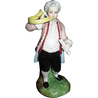 Antique Porcelain Figurine French Horn Player