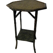 Antique Aesthetic Movement Tiger Bamboo Side Table