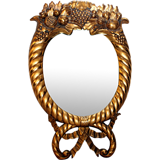 Gilt Wood American Empire  Mirror