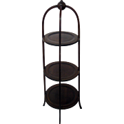 Antique Regency Mahogany Muffin Stand