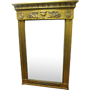 Antique French Empire Giltwood Mirror