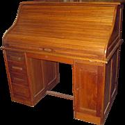 Antique American Oak Roll Top Desk