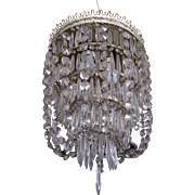 Edwardian Five Tier Crystal Chandelier