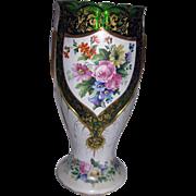 Antique Moser Bohemian Art Glass Overlay Vase